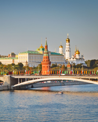 Moscow And Moskva River - Obrázkek zdarma pro 240x400