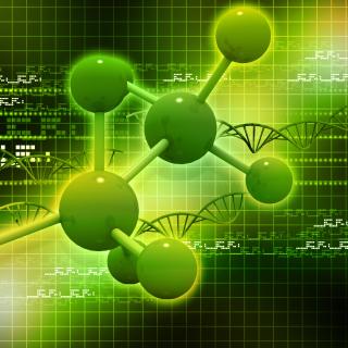 Metallic Green Molecules - Obrázkek zdarma pro iPad mini 2