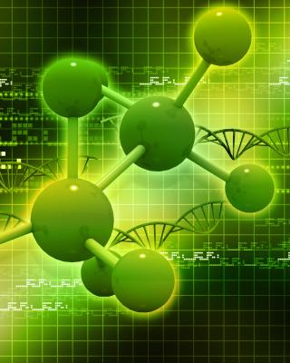 Metallic Green Molecules - Obrázkek zdarma pro iPhone 4