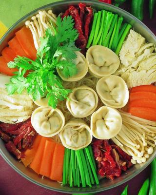Chinese dumplings - Obrázkek zdarma pro 768x1280