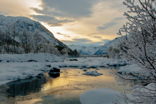 Winter Outdoor Image Wallpaper for Android, iPhone and iPad
