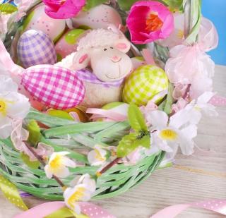 Easter Sheep - Obrázkek zdarma pro 208x208
