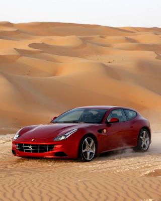 Ferrari FF in Desert - Obrázkek zdarma pro 480x854