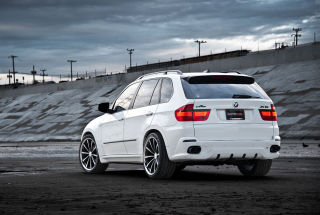 Free White BMW X5 Picture for Android, iPhone and iPad