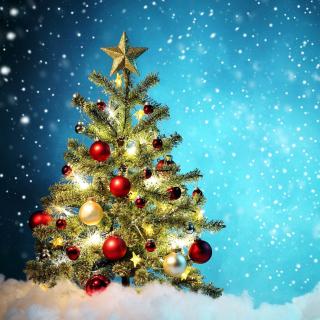 New Year Tree and Snow - Obrázkek zdarma pro iPad