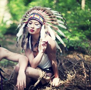 Indian Feather Hat - Obrázkek zdarma pro 208x208