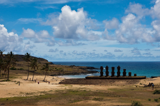 Easter Island Statues Background for Android, iPhone and iPad