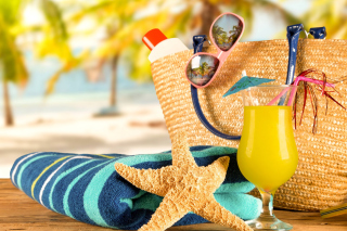 Kostenloses Accessories for beach holiday Wallpaper für Android, iPhone und iPad