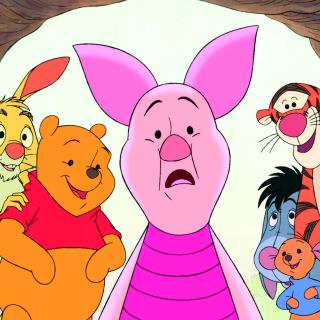Winnie the Pooh with Eeyore, Kanga & Roo, Tigger, Piglet - Obrázkek zdarma pro iPad Air