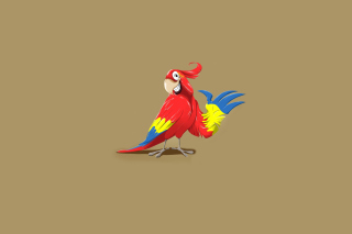 Funny Parrot Drawing Wallpaper for Android, iPhone and iPad