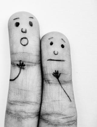 Emotional Fingers - Obrázkek zdarma pro 352x416