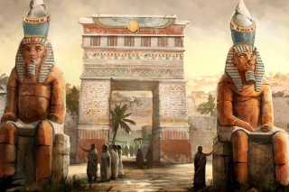 Ancient Egypt Statues Wallpaper for Android, iPhone and iPad