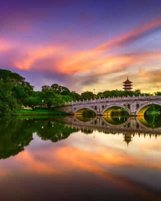 Chinese Garden Singapore - Obrázkek zdarma pro iPhone 4S
