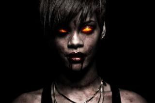 Rihanna Zombie Picture for Android, iPhone and iPad