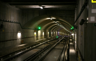 Deep Modern Subway Tunnel Picture for Android, iPhone and iPad