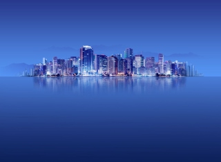 Blue City HD Wallpaper for Android, iPhone and iPad