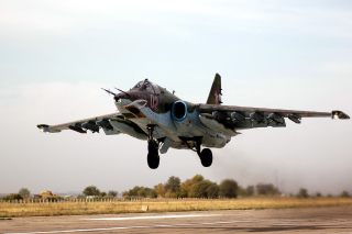 Kostenloses Sukhoi Su 25 Frogfoot Ground Attack Aircraft Wallpaper für Android, iPhone und iPad