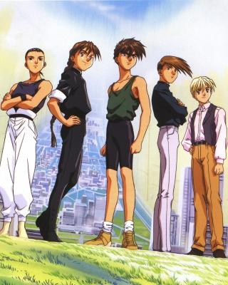 Quatre Gundam Pilots - Obrázkek zdarma pro 128x160