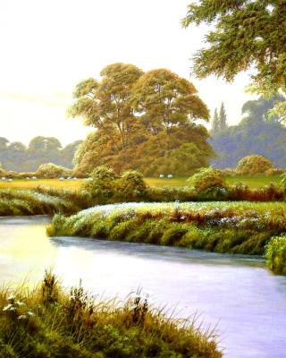 Terry Grundy Autumn Coming Landscape Painting - Obrázkek zdarma pro Nokia X7