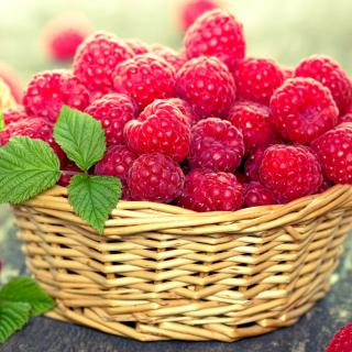 Basket with raspberries - Obrázkek zdarma pro iPad 2