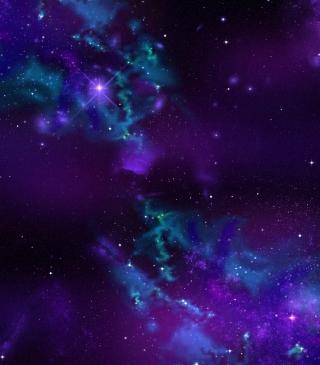 Starry Purple Night - Obrázkek zdarma pro Nokia Lumia 520