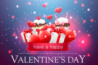 Happy Valentines Day Background for Nokia Asha 200