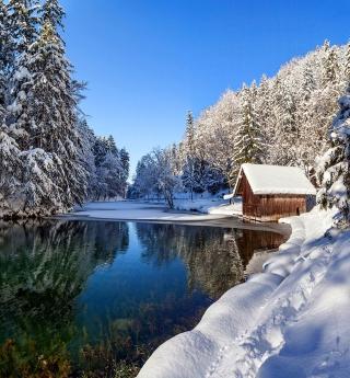 Winter House - Obrázkek zdarma pro 2048x2048