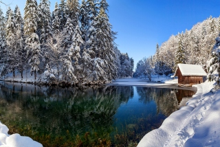 Winter House - Obrázkek zdarma pro 1400x1050