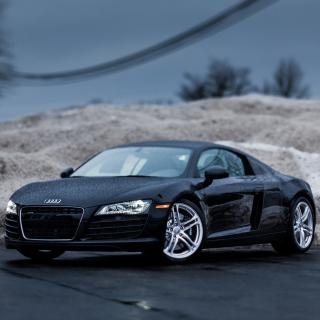 Audi R8 Coupe Matteblack - Obrázkek zdarma pro iPad