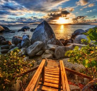 Caribbean Sea - Obrázkek zdarma pro iPad