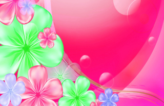 Pink Floral Picture for Android, iPhone and iPad