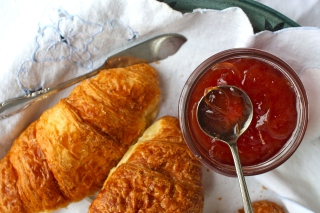 Free Croissants and Jam Picture for Android, iPhone and iPad