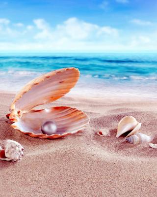 Shells and pearl - Obrázkek zdarma pro iPhone 5C