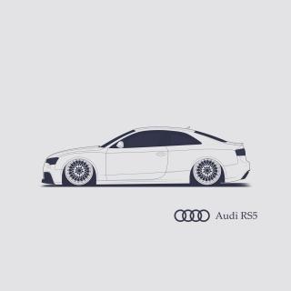 Audi RS 5 Advertising - Obrázkek zdarma pro iPad