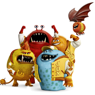 Monsters University, Jaws Theta Chi students - Obrázkek zdarma pro iPad 3