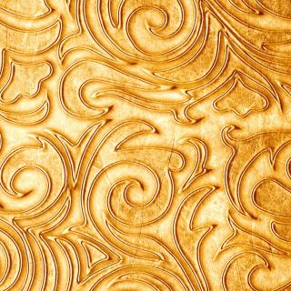 Gold sprigs pattern - Obrázkek zdarma pro 128x128
