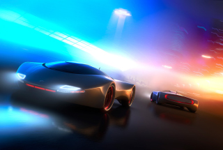 Neon Car Background for Android, iPhone and iPad