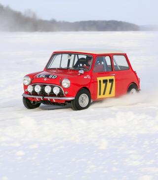 Red Mini In Snow - Obrázkek zdarma pro Nokia C2-02