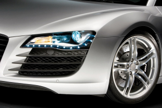 Audi R8 LED Headlights Lamp - Obrázkek zdarma pro HTC Desire 310