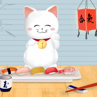 Maneki Neko Cat HD - Obrázkek zdarma pro iPad 2