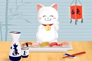 Maneki Neko Cat HD - Obrázkek zdarma pro Samsung Galaxy S II 4G