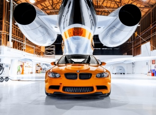 Bmw In Hangar Picture for Android, iPhone and iPad