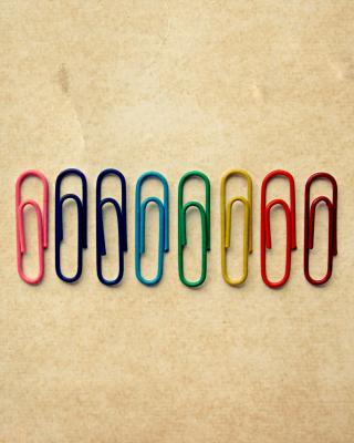 Paper Clips - Obrázkek zdarma pro Nokia Asha 306