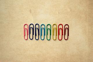 Paper Clips - Obrázkek zdarma pro Samsung Galaxy S6
