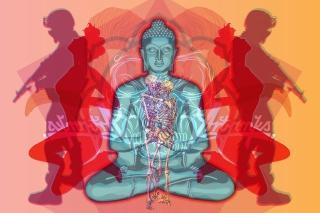 Buddha Creative Illustration - Obrázkek zdarma pro Sony Xperia Tablet S