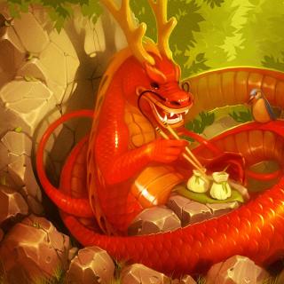 Dragon illustration - Obrázkek zdarma pro 128x128