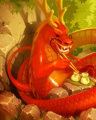 Dragon illustration - Obrázkek zdarma pro iPhone 5