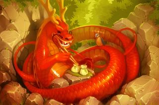 Dragon illustration - Obrázkek zdarma pro 800x480