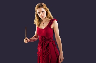 Emma Watson In Red Dress Background for Android, iPhone and iPad