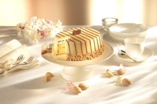 Marzipan cake Background for Android, iPhone and iPad